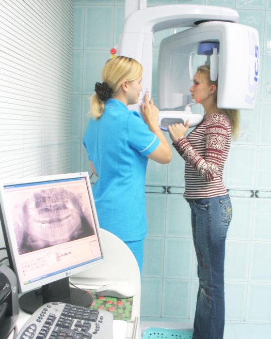 Панорамный снимок зубов как делают